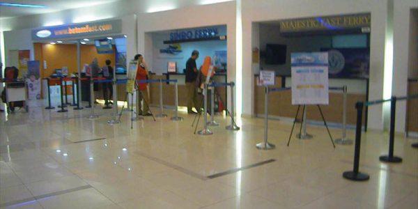 タナメラフェリーターミナル チェックインカウンター