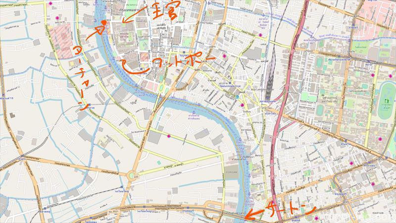 チャオプラヤ・エクスプレス周辺地図